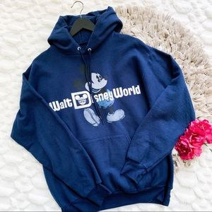 NWT Walt Disney World Navy Blue Mickey Hoodie